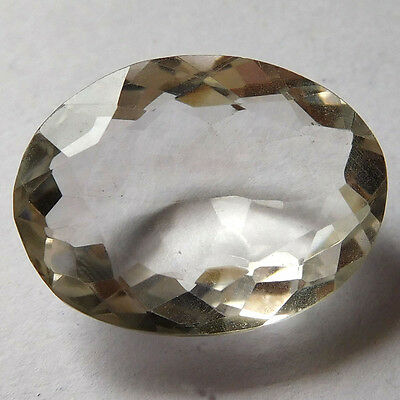 Beautiful Real CRYSTAL QUARTZ Oval Faceted 20x15mm Gemstone 16.25 Cts eBay Store