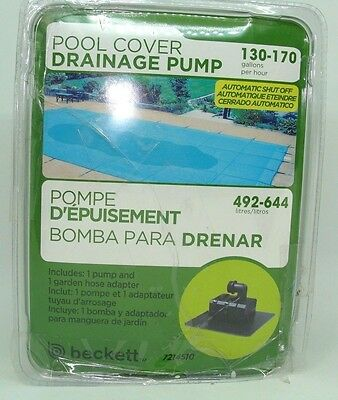 Beckett Corporation Pool Cover Drainage Pump M130APCP , 20-Feet Damaged package