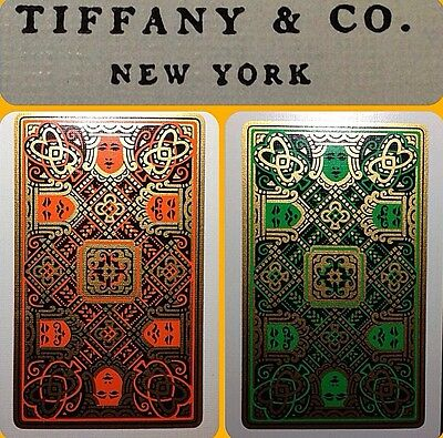 c1926 Authentic Tiffany & Co. Gold Gilt Art Deco Playing Cards Gem Jewelry ICON