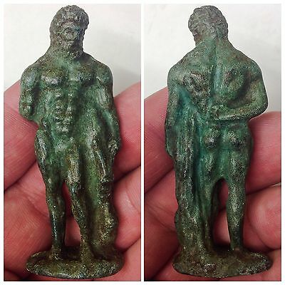 ROMAN Ancient Bronze Statue / Statuette of Roman Bearded Male  c200-400 AD