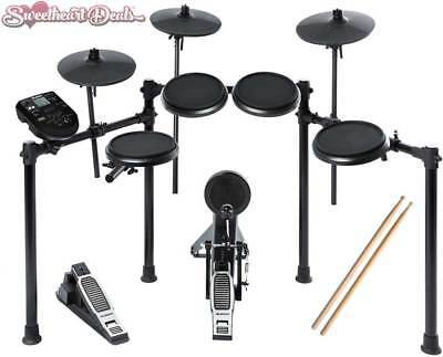 NEW Alesis Nitro Kit Electronic Drum Set Free Sticks Free Shipping!
