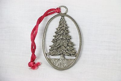 1992 Seagull Pewter CHRISTMAS TREE ORNAMENT signed Etain Zinn