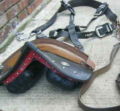 Heavy Horse Harness Saddle+Back Band & Breeching 1 set Made In Scotland