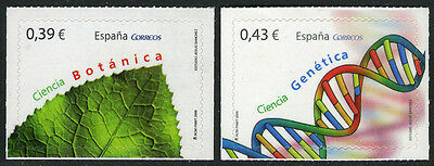 Spain 3613-3614, Self-Adhesive, MNH. Sciences. Botany, Genetics, 2009