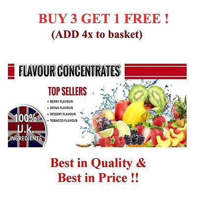 30,50,100,200,500ml &1Ltr EXTRA CONCENTRATED FLAVOURINGS FOR E-LIQUIDS A-M