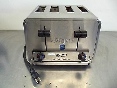 Waring Commercial Heavy Duty Toaster WCT810~4 Slice~Works Good~120Volt~S2625