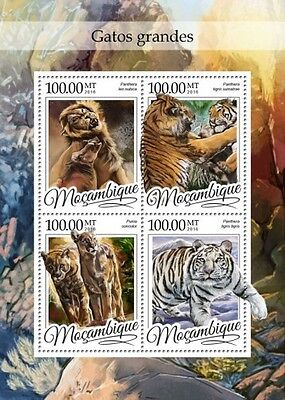 Z08 IMPERFORATED MOZ16305a MOZAMBIQUE 2016 Big cats MNH