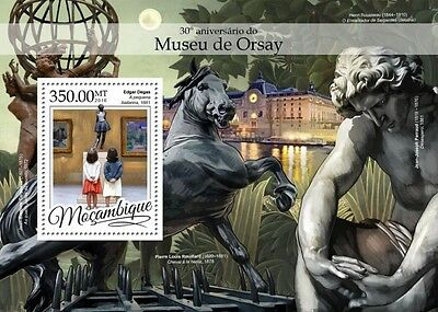Z08 IMPERFORATED MOZ16315b MOZAMBIQUE 2016 Musee d'Orsay MNH