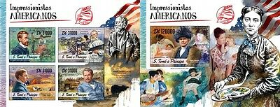 Z08 IMPERFORATED ST16505ab Sao Tome and Principe 2016 American Impressionists MN