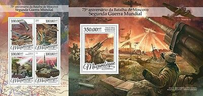 Z08 MOZ16303ab MOZAMBIQUE 2016 WWII Battle of Moscow MNH Set