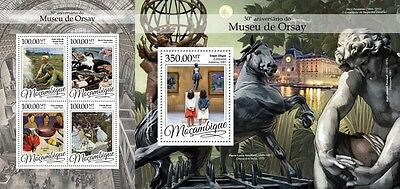 Z08 MOZ16315ab MOZAMBIQUE 2016 Musee d'Orsay MNH Set