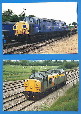 10 PHOTOGRAPHS OF DIFFERENT CLASS 37 DIESEL LOCOMOTIVES.SIZE 10 x 15cms APPROX