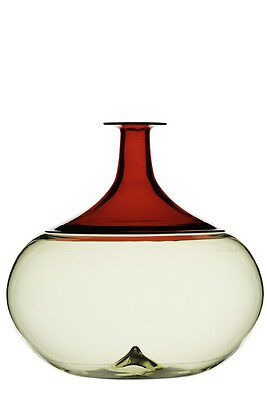 Vaso Vase blown glass NEW Venini Bolle Talpa/Rosso 502.01