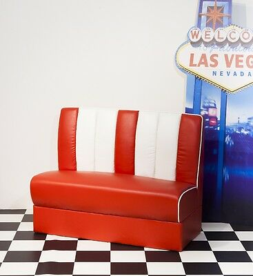 American Diner Furniture 50s Style Retro Booth Red