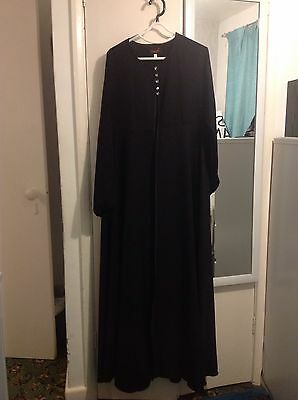 Ladies Black Abaya Jacket/gown Size M/54