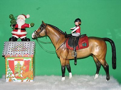 for Breyer Peter Stone Trad model horses OOAK CM Holiday Saddle pad ONLY