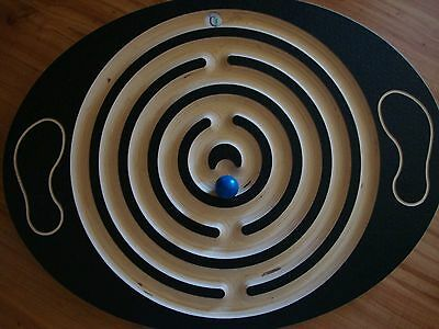 Balance Board Labyrinth Maze Occupational Therapy Trainer With Ball~Excellent!