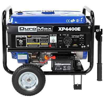 DuroMax XP4400E 4,400 Watt 7.0 HP OHV 4-Cycle Gas Powered Portable Generator Wit