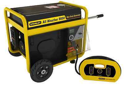 Stanley G8000S-CAN 8000-watt All Weather Generator, Black and Yellow