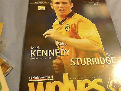 Wolves v Sheffield Wednesday league programme from 2002