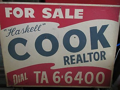 Vintage late 1950's Reflective glass Metal Advertising sign