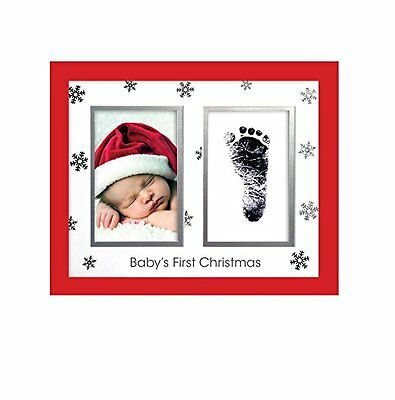 Pearhead Babyprints Baby's First Christmas Frame with Clean Touch Ink Pad