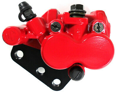 FRONT DISC BRAKE CALIPER RED for SACHS MADASS SCOOTER (Includes brake pads)