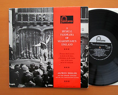 TFL 6022 A Musical Panorama Of Shakespeare's England Alfred Deller 1960 Fontana