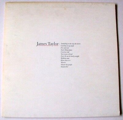 JAMES TAYLOR's Greatest Hits - Vinyl LP - WARNER BROS RECORDS Dated 1976