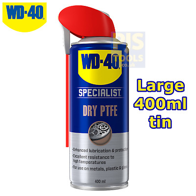 WD40 400ml anti friction dry ptfe lubricant spray ** Large can size WD-40 **