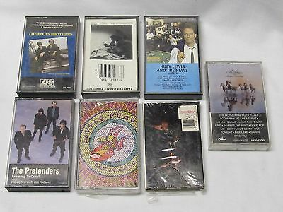 Lot Of 7 Music Cassettes...blues Brothers, Huey Lewis, Bob Seger, Billy Joel