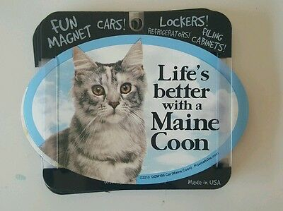 Life's Better with a MAINE COON  Magners Cats Gifts, Cars, Trucks, Oval magnet