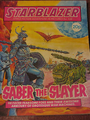 Starblazer Space Fiction Adventure in Pictures No 125 (1984) Saber the Slayer