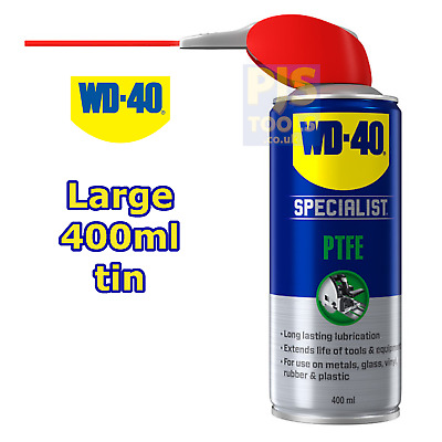WD40 400ml high performance ptfe spray ** Large can size WD-40 **