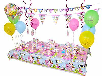 Shopkins Birthday 168pc Party Supplies Decoration 8 Guests - FREE SHIPPIN! NEW!