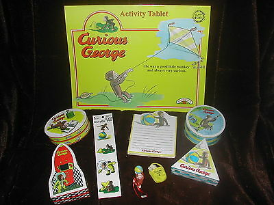 New Set Of 9 Various Curious George Items Which Includes Tablet And Gift Boxes