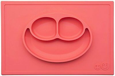 ezpz Happy Mat (Coral) - One-piece silicone placemat + plate (HM000) BRAND NEW