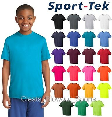 Youth Sport-Tek Dry Fit Workout Performance Moisture Wicking T-Shirt Gym YST350