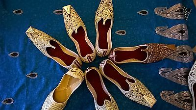 Men's Golden beaded Punjabi shoes/ Jutti / Khussa Beautiful hand crafted stylish