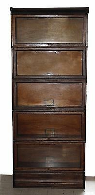 Antique Globe Wernicke Co. Lawyers Barrister Book Case Mission Style 5 Sections