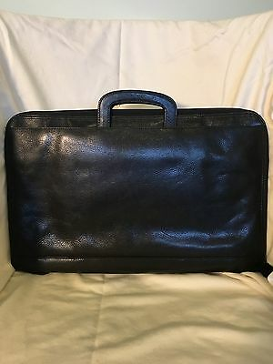 Wilson Leather Pelle Studio Women's Black Slim Briefcase EUC!