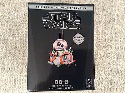 STAR WARS Gentle Giant BB-8 Holiday Mini Bust PGM Exclusive 2016 # 231/750 Rare