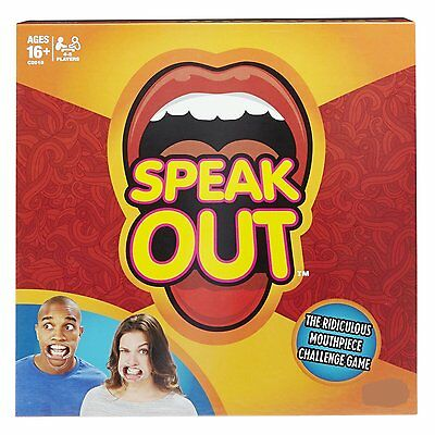JIBBER JABBER SPEAK OUT PARTY BOARD GAME TALK LOUD 5x MOUTHPIECES CHALLENGE GAME
