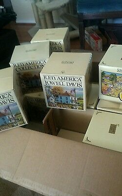 Lowell Davis 16 boxes collection!! Figurines and houses!!