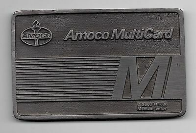 Amoco Multicard Promotional Pewter Collectible Promotional Card