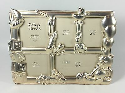 Godinger Silver Art Silver-Plated Frame Collage Baby Theme Tabletop Photo Frame
