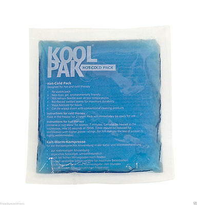 Koolpak Reusable Hot Cold Therapy Heat Ice Gel Pack First Aid Sports Pain Relief