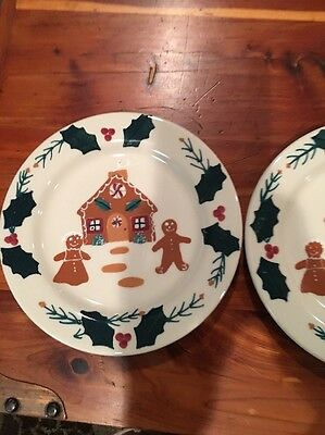 Noble Excellence Gingerbread Salad Plates Set Of 2