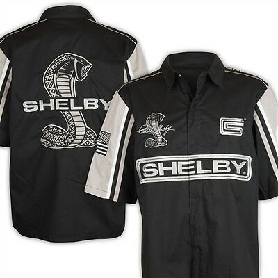 Carroll Shelby Signature Black/Gray Pit Shirt Ford Mustang GT500 Super Snake