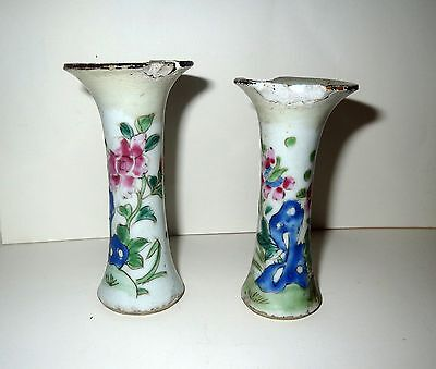 Important Antiquities ANCIENT CHINESE PORCELAIN Pottery - Pair TOMB VESSELS